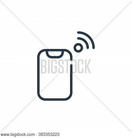 mobile phone icon isolated on white background from internet of things collection. mobile phone icon