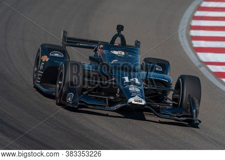 August 28, 2020 - Madison, Illinois, USA: TONY KANAAN (14) of Salvador, Brazil  practices for the Bommarito Automotive Group 500 at the World Wide Technology Raceway in Madison, Illinois.