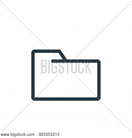 folder icon isolated on white background from business collection. folder icon trendy and modern fol