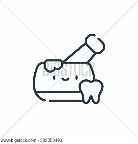 mortar icon isolated on white background from dentist collection. mortar icon trendy and modern mort