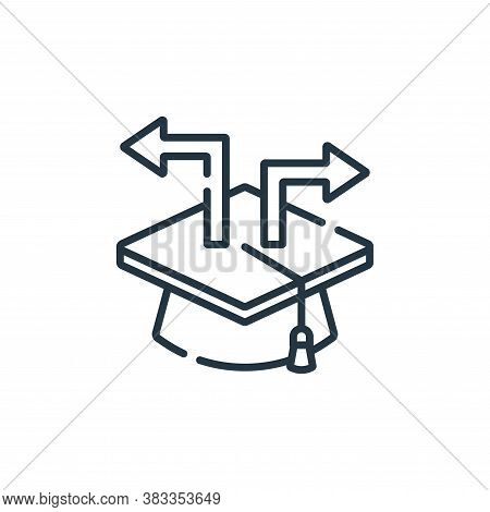 career choice icon isolated on white background from education collection. career choice icon trendy