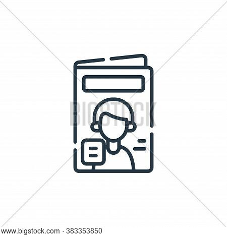 magazine icon isolated on white background from supermarket collection. magazine icon trendy and mod