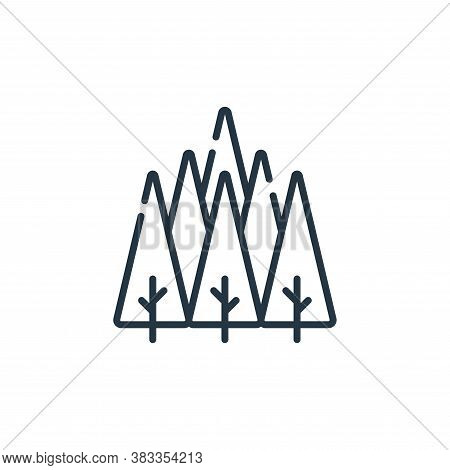 forest icon isolated on white background from sustainable energy collection. forest icon trendy and