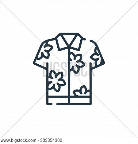 hawaiian shirt icon isolated on white background from party and celebration collection. hawaiian shi