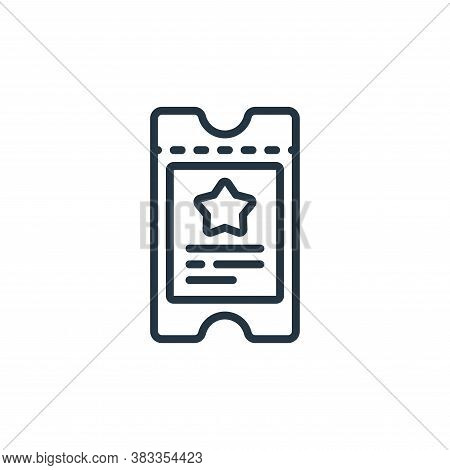 ticket icon isolated on white background from event management collection. ticket icon trendy and mo