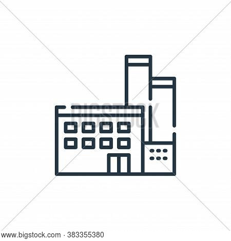 factory icon isolated on white background from sustainable energy collection. factory icon trendy an