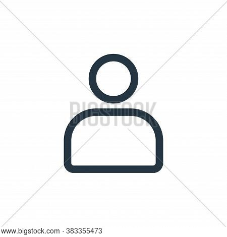 account icon isolated on white background from ui collection. account icon trendy and modern account