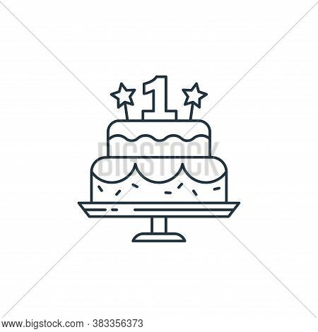 cake icon isolated on white background from kids collection. cake icon trendy and modern cake symbol