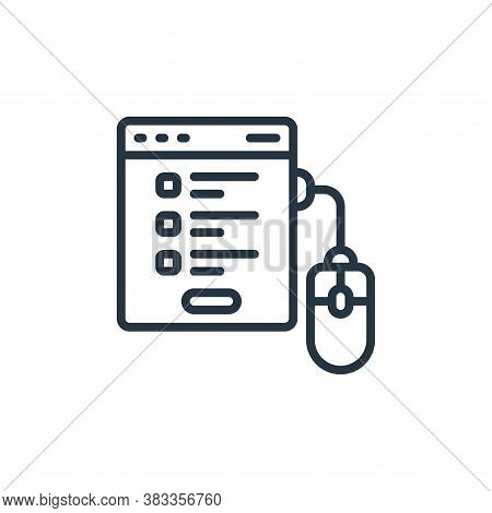 registration form icon isolated on white background from event management collection. registration f