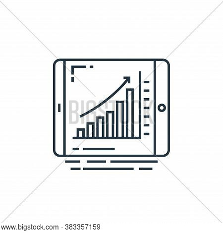 Online analytical icon isolated on white background from data analysis collection. Online analytical