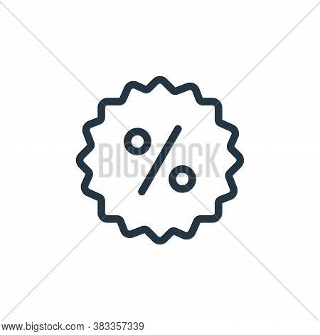 discount icon isolated on white background from ecommerce and shopping collection. discount icon tre