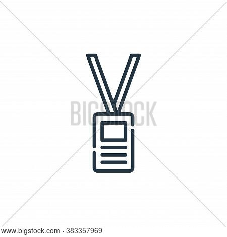 id card icon isolated on white background from museum collection. id card icon trendy and modern id