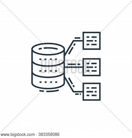 big data icon isolated on white background from data analysis collection. big data icon trendy and m