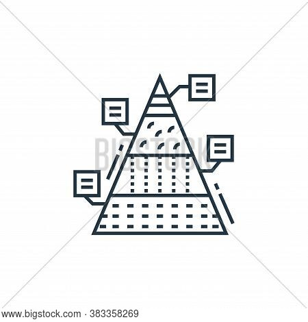 pyramid chart icon isolated on white background from data analysis collection. pyramid chart icon tr
