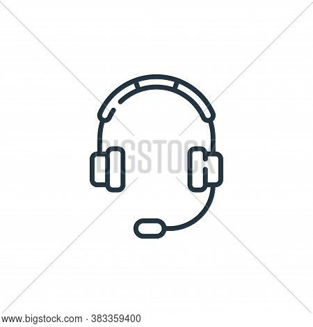 headphones icon isolated on white background from aviation collection. headphones icon trendy and mo