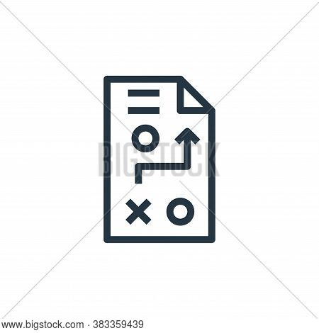 strategy development icon isolated on white background from marketing seo business collection. strat