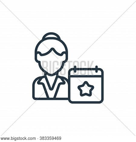 event planner icon isolated on white background from event management collection. event planner icon