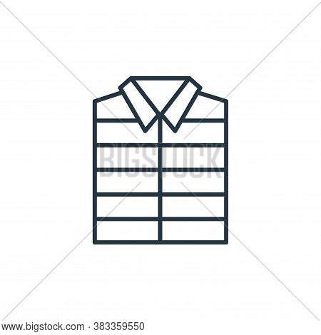 vest icon isolated on white background from fashion collection. vest icon trendy and modern vest sym