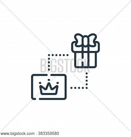 loyalty icon isolated on white background from supermarket collection. loyalty icon trendy and moder
