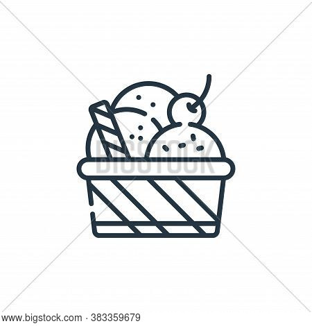 ice cream icon isolated on white background from sweets and candies collection. ice cream icon trend