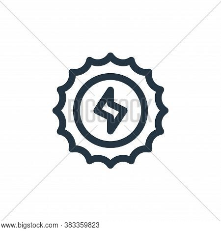 sun icon isolated on white background from sustainable energy collection. sun icon trendy and modern