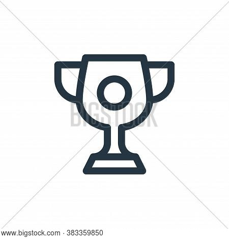 trophy icon isolated on white background from videogame elements collection. trophy icon trendy and