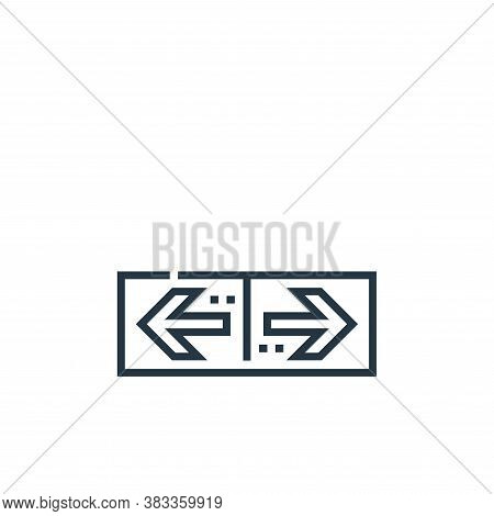 direction icon isolated on white background from driving school collection. direction icon trendy an