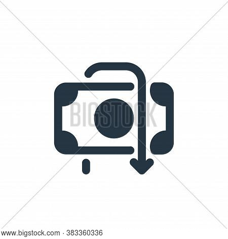 refund icon isolated on white background from economy collection. refund icon trendy and modern refu