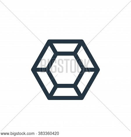 gem icon isolated on white background from videogame elements collection. gem icon trendy and modern