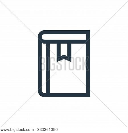 book icon isolated on white background from books collection. book icon trendy and modern book symbo