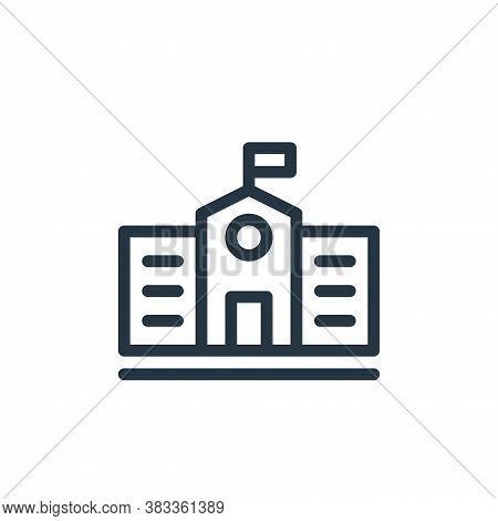 school icon isolated on white background from education collection. school icon trendy and modern sc