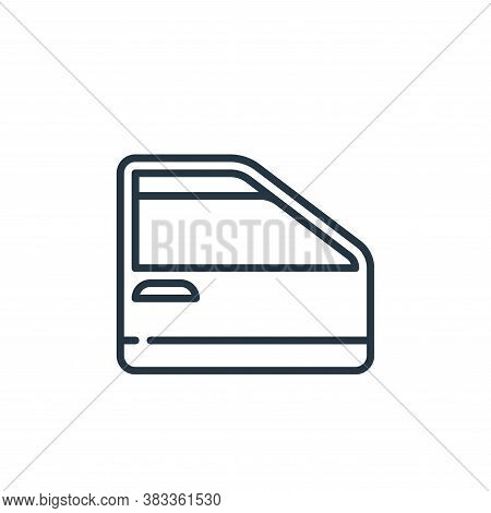 car door icon isolated on white background from car engine collection. car door icon trendy and mode