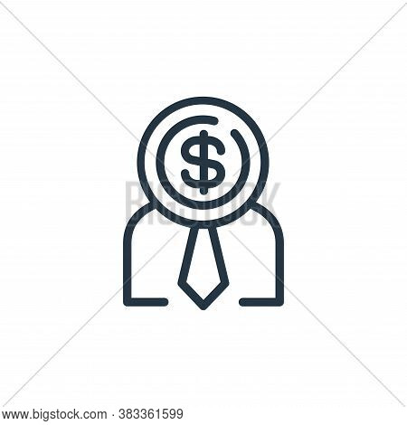 businessman icon isolated on white background from finance and business collection. businessman icon