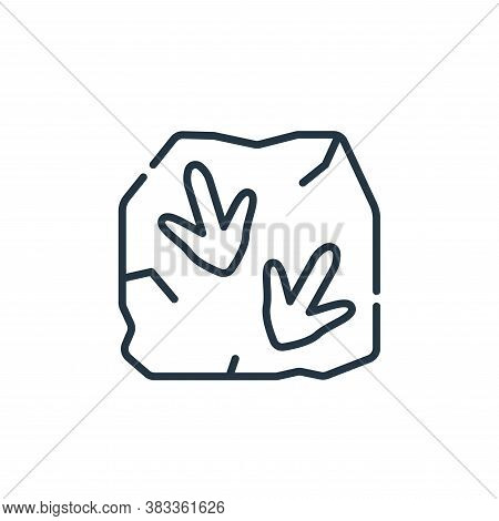 fossil icon isolated on white background from museum collection. fossil icon trendy and modern fossi