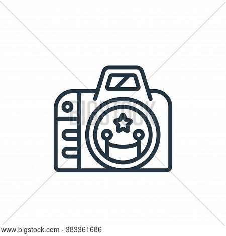 photographer icon isolated on white background from event management collection. photographer icon t