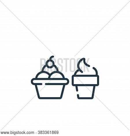 ice cream icon isolated on white background from supermarket collection. ice cream icon trendy and m