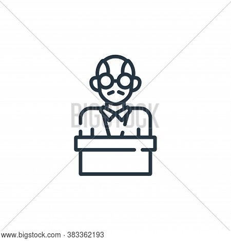 lecturer icon isolated on white background from education collection. lecturer icon trendy and moder