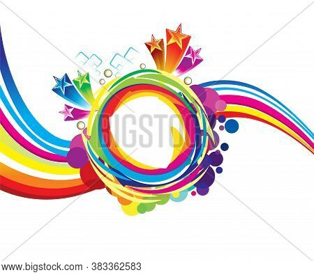 Abstract Artistic Creative Wave Explode Vector Illustration