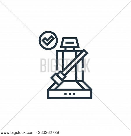 seatbelt icon isolated on white background from driving school collection. seatbelt icon trendy and