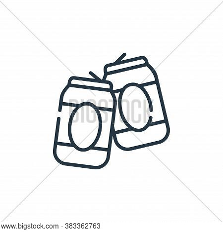 beer can icon isolated on white background from party and celebration collection. beer can icon tren
