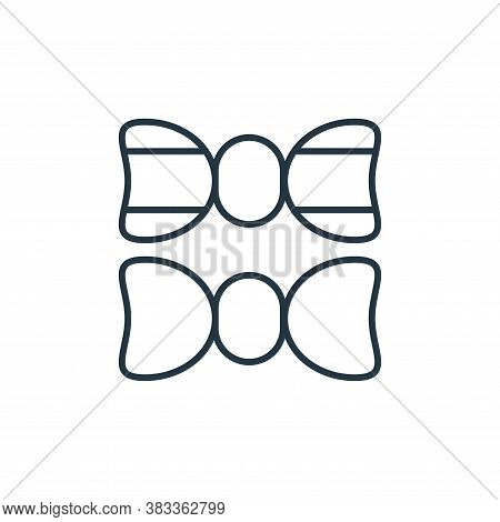 bow tie icon isolated on white background from fashion collection. bow tie icon trendy and modern bo