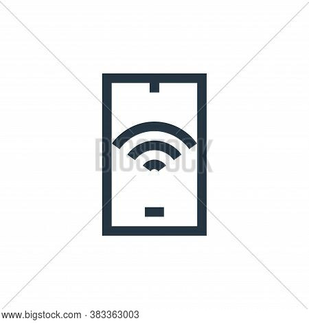 smartphone icon isolated on white background from wireless technology collection. smartphone icon tr