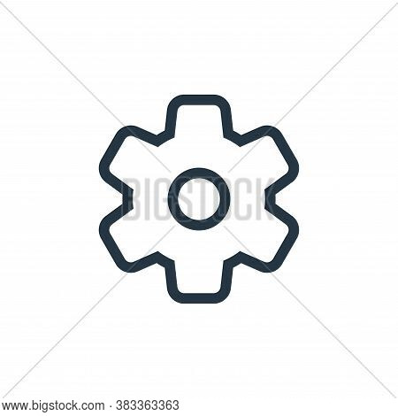 settings icon isolated on white background from ui collection. settings icon trendy and modern setti