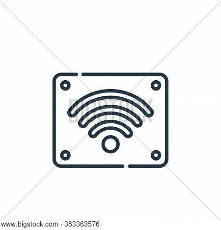 wifi signal icon isolated on white background from museum collection. wifi signal icon trendy and mo