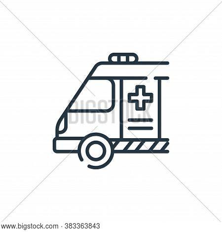 ambulance icon isolated on white background from public transportation collection. ambulance icon tr