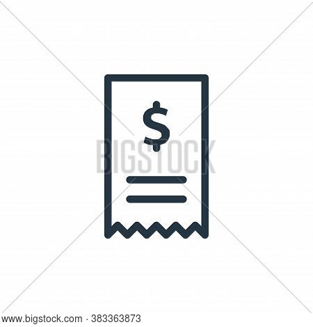 bill icon isolated on white background from ecommerce and shopping collection. bill icon trendy and