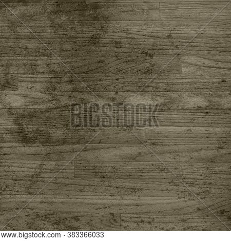 Sepia Distressed Wood Floor For Backgrounds And Texture Design Element.