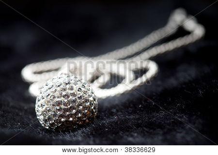 Silver Jewlery On Black Background
