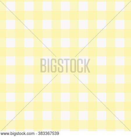 Yellow And White Buffalo Plaid Pattern For 12x12 Backgrounds And Design Elements.