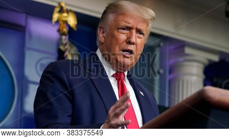 Washington Dc,united States,june 2020,american President Donald Trump In Conference